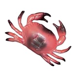 Beistle 8 Plastic Crab, Red/Black, 4/Pack