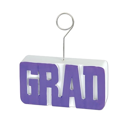 Beistle 6 oz. Grad Photo/Balloon Holder; Purple, 3/Pack