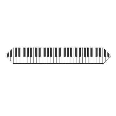 Beistle 11 x 6 Piano Keyboard Table Runner; 4/Pack
