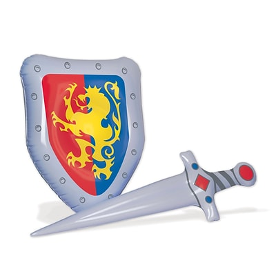 Beistle Inflatable Sword & Shield Set; Multicolor, 2/Pack