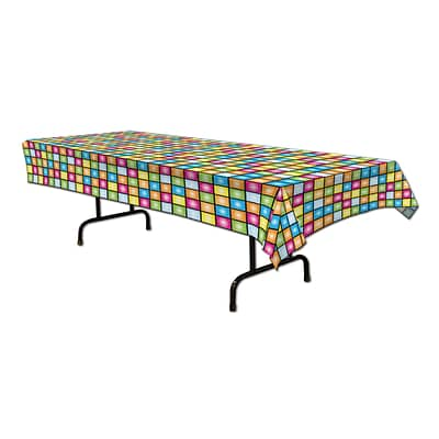 Beistle Disco Tablecover; 54 x 108, 2/Pack