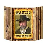 Beistle 3 1x25 Wanted Poster Photo Prop