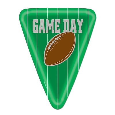 Beistle 10 Triangular Shaped Game Day Football Plates; 24/Pack