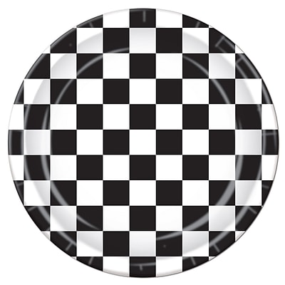 Beistle 9 Checkered Plate; Black/White, 24/Pack