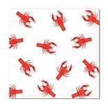 Beistle White/Red Crawfish Luncheon Napkins