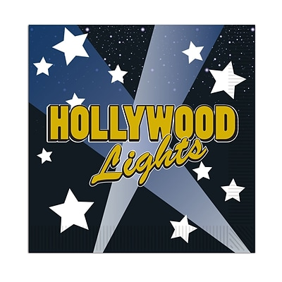 Beistle 5 x 5 Hollywood Lights Beverage Napkin; 64/Pack