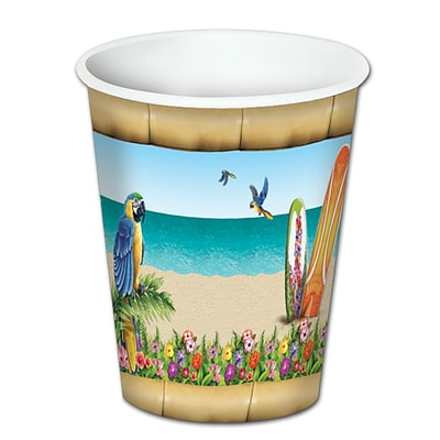 Beistle 8 Oz. Paradise Beverage Cups; 24/Pack