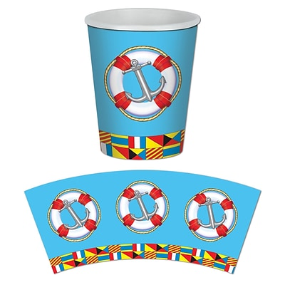 Beistle 9 Oz. Nautical Beverage Cups; 24/Pack