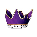 Beistle Plush Royal Crown, One Size, Purple