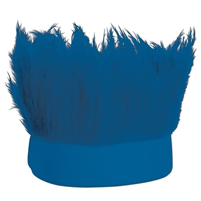Beistle Adjustable Hairy Headband, Blue