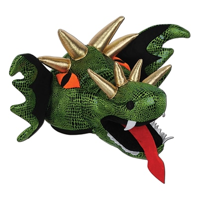 Beistle Plush Dragon Hat, One Size