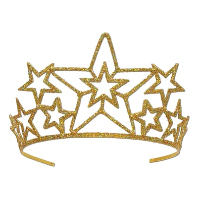 Beistle Glittered Star Tiara; Gold