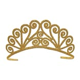 Beistle Glittered Tiara, Gold