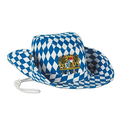 Beistle Oktoberfest Outback Hat, One Size, Blue/White