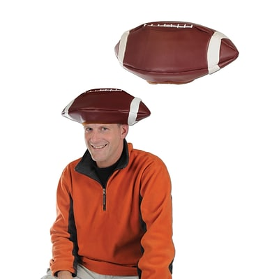 Beistle Vinyl Football Hat, One Size, Brown