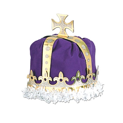 Beistle Royal Kings Crown Hat, One Size, Purple