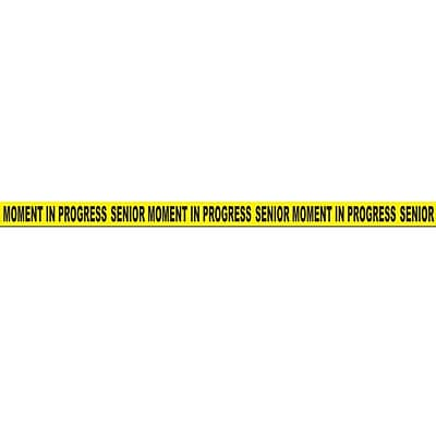 Beistle 3 x 20 Senior Moment In Progress Party Tape; Yellow/Black, 5/Pack