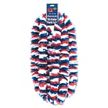 Beistle 2 x 36 Soft-Twist Patriotic Poly Lei; Red/White/Blue, 16/Pack