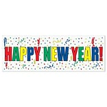Beistle 5 x 21 Happy New Year Sign Banner; 3/Pack