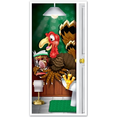 Beistle 30 x 5 Turkey Restroom Door Cover; 3/Pack
