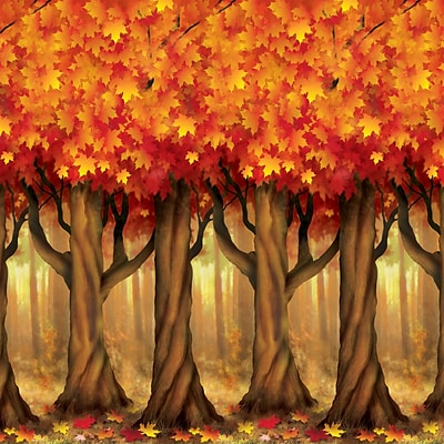 Beistle 4 x 30 Fall Trees Backdrop