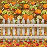 Beistle 4x30 Pumpkin Patch Backdrop