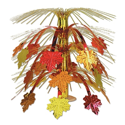 Beistle 18 Fall Leaves Cascade Centerpiece; 3/Pack
