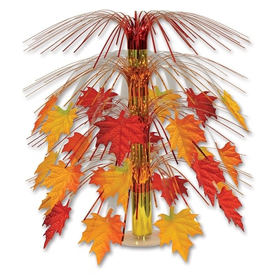 Beistle 18 Fabric Fall Leaves Cascade Centerpiece; 3/Pack