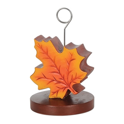 Beistle 6 oz. Fall Leaf Photo/Balloon Holder; 3/Pack