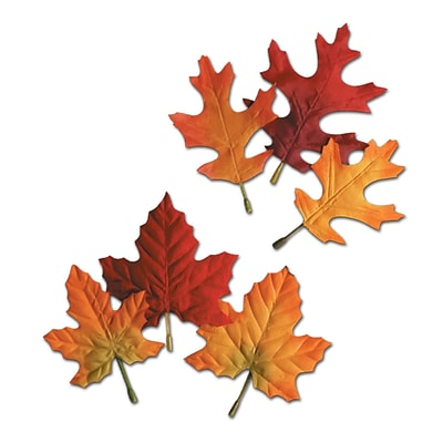 Beistle 4 1/2 - 5 1/2 Autumn Leaves Cutouts; 60/Pack