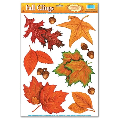 Beistle 12 x 17 Fall Leaf Clings; 70/Pack