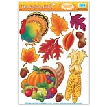 Beistle 12x17 Thanksgiving Clings
