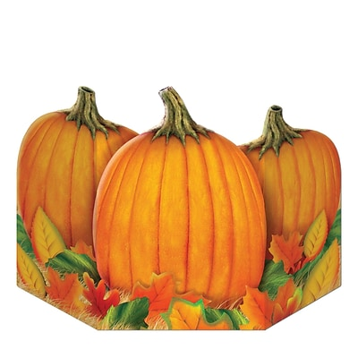 Beistle 3 1/2 x 24 1/2 Fall Harvest Stand Up Cutouts; 2/Pack