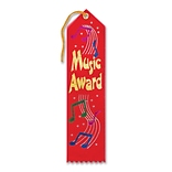Beistle 2x8 Music Award Ribbon