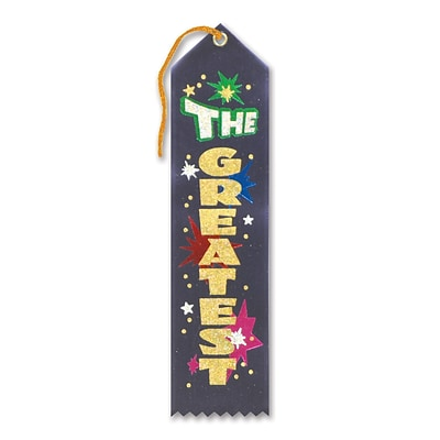 Beistle 2 x 8 The Greatest Award Ribbon; 9/Pack