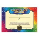Beistle 5x7 First Place Award Certificate
