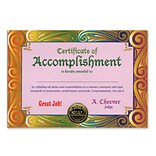 Beistle Certificate Of Accomplishment