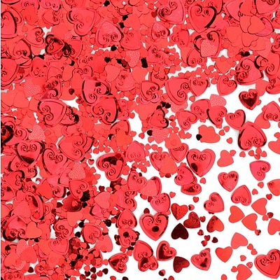 Beistle Hearts Confetti; Red, 5/Pack