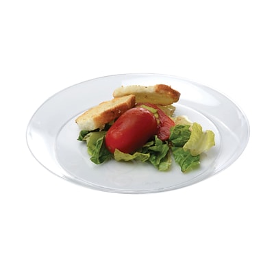 Savvi Serve Recyclable Plastic Clear Plastic Plate, 6 Dia, Clear, 240/Set