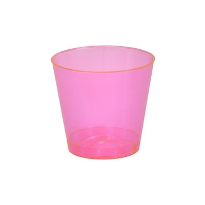 Savvi Serve Plastic Red Neon Tumbler Shot Glass 1 Oz.