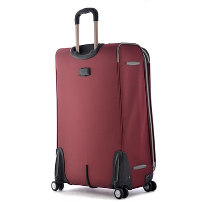 Olympia Polyester Tuscany Expandable Super Rolling Case, 30, Red