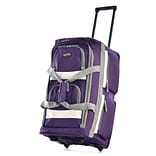 Olympia 8 pocket Carry On Rolling Upright Duffel Bag, 22, Dark Lavender