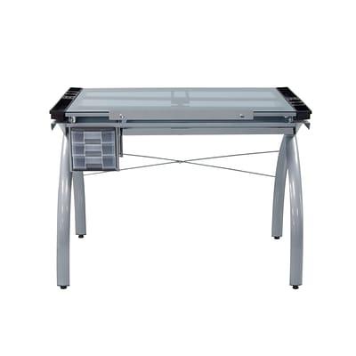 Studio Designs 3.1 X 2 Metal Plastic U0026 Glass Drafting Table