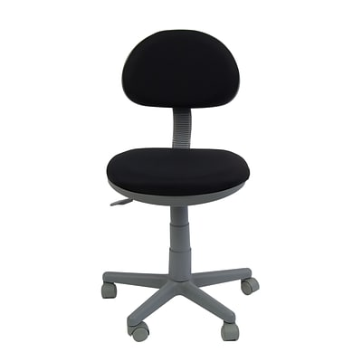 Studio Designs Deluxe Task Chair Fabric & Plastic Task Chairs, Black