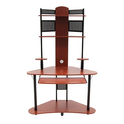Calico Designs 47.25 x 74 Wood Arch Tower, Cherry/Black