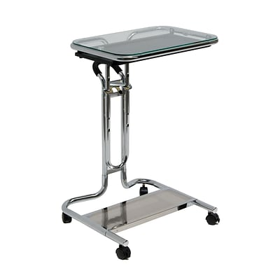 Calico Designs 37 Metal Adjustable Laptop Cart, Clear