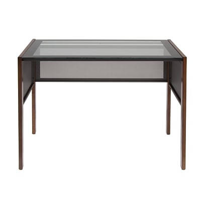 Calico Designs Office Line Glass Top & Solid Hardwood Main Desk