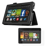 Mgear Accessories Kindle Fire HD 7 Black Double-Fold Folio Case with Screen Protector