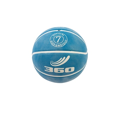 360 Athletics Rubber Playground Series Rubber Basketballs Size 7, Blue
