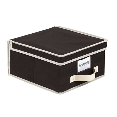 Simplify Medium Size Collapsible Non Woven Storage Box Black